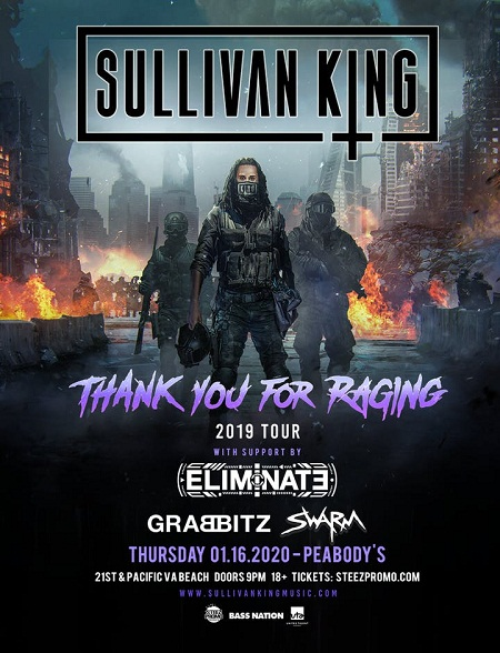 Attend Sullivan King W/ Eliminate Event By Staying At Leading Hotel