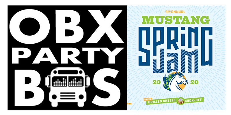 SAT: OBX Party Bus Ride to Mustang Spring Jam 2020